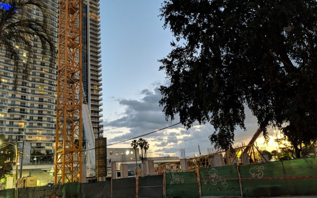 VERTICAL CONSTRUCTION UNDERWAY AT 35-STORY MIAMI PLAZA